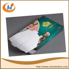 Colorful Logo Printing Burger Wrapping Paper Greaseproof Glassine Paper .