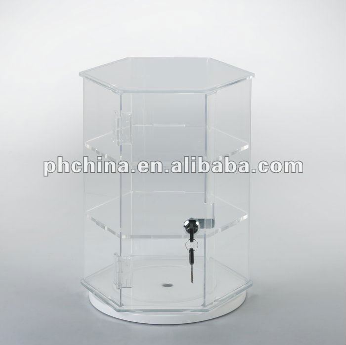 AN-396 Allowing Customers to Clearly View Merchandise Freely Rotating Clear Acrylic Jewelry Display Holder