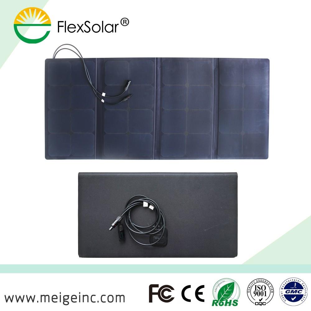 Wuhan Flextech semi-flexível 100 w painel solar dobrável para ao ar livre