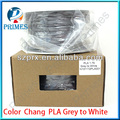 color change filament PLA grey to white