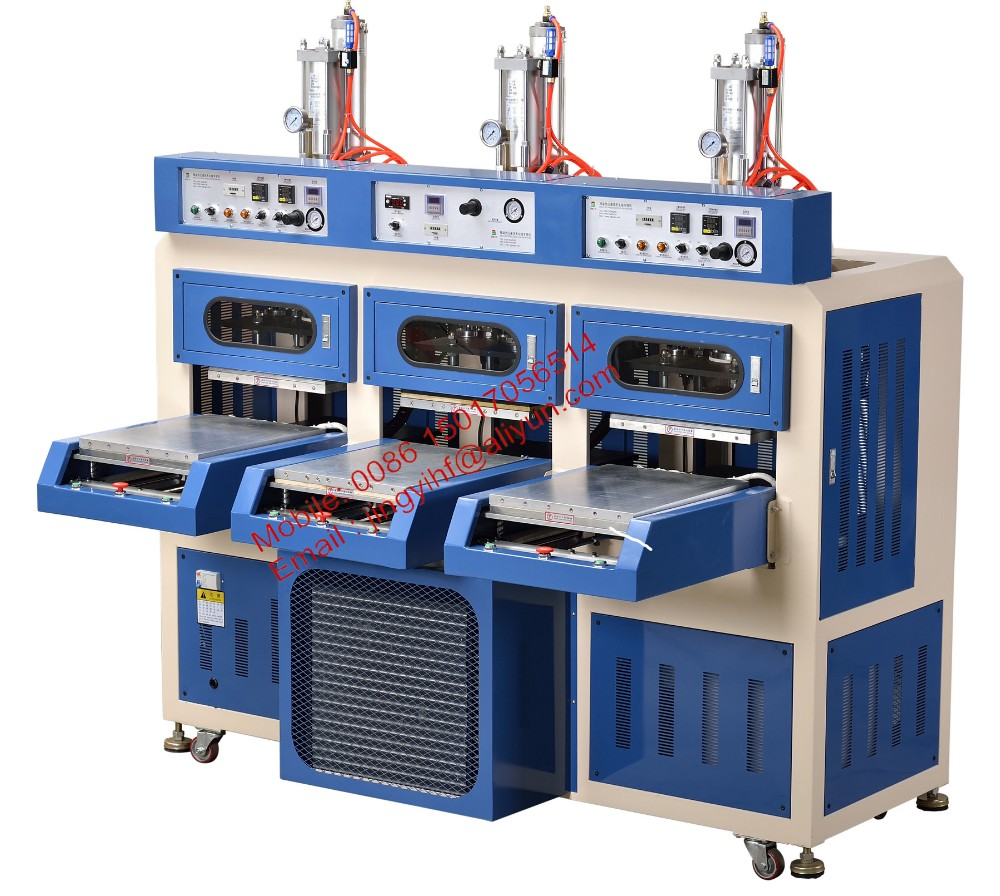 TPU shoes upper welding machine with hot & cold system