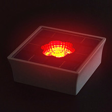 Good Appearance Night Lighting Shining Powerful Solar Panel Chargeable Lithium Battery Solar Brick Light Covers