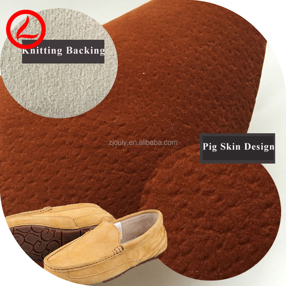 1.0 mm Thick Pigskin Dye Suede Leather Upper Raw Cow Split Pig Suede Leather