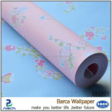 Special design hot selling non-woven wallpaper 2017 covering factory