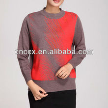 12STC0538 partly sequinned womens woolen sweater 2013