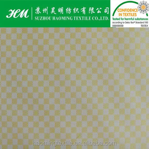380T 0.2 cationic twill grid fashion dobby polyester fabric