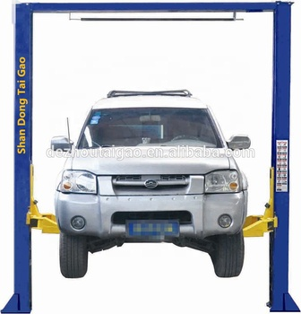 Hot sale CE 4.5T hydraulic homemade 2 post free floor car lift