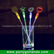 2014 Eco-friendly flashing led plastic stirrer for drink