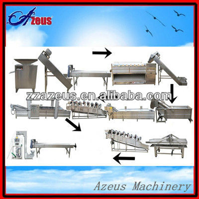 full automatic frozen potato sticks maker machines/french fries making plant production line price