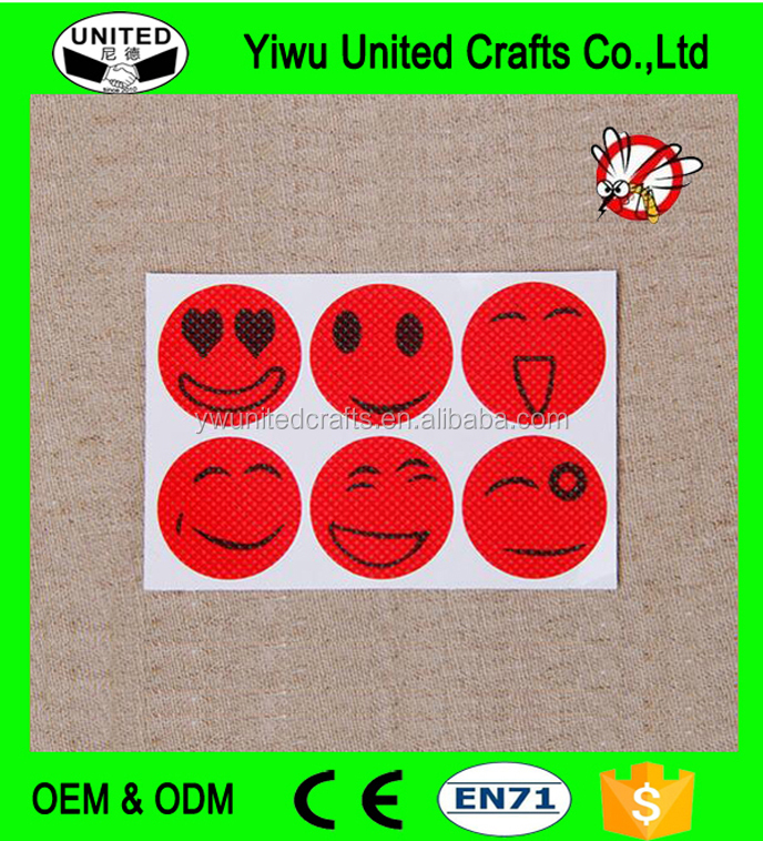 High Quality Mosquito Repellent Smiley Patch Stickers