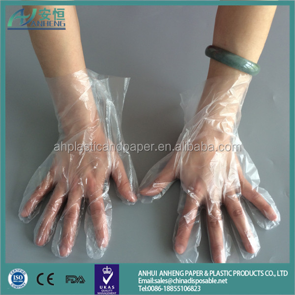 HOT SALE disposable HDPE pe gloves Disposable Gloves custom clear pe disposable gloves wholesale Anhui manufacturer