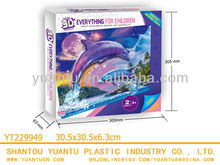 Manufactory paper product diy 3d puzzle dolphin for sale