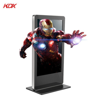 Factory Price 65Inch HD Full Floor Stand Alone Advertising Display 3D Digital Signage Machine for Advertising