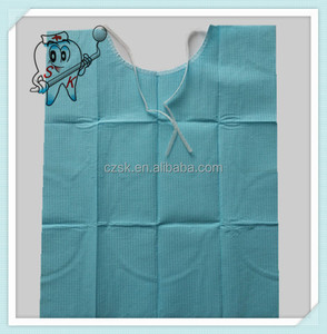 Size 38x45 Top sale disposable dental bibs with tie
