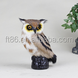 plastic model miniature animal plush owl toys