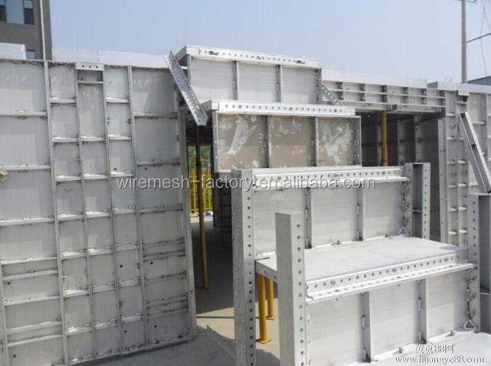 Fast & Easy assembled aluminium shuttering formwork for concrete