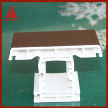 huazhijie 60/80/88 Series UPVC Profiles Co-Extrusion Plastic Window Mullion