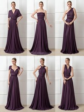 Wholesale A Line Convertible Bridesmaid Dresses Long, Cheap Bridesmaid Dresses Long