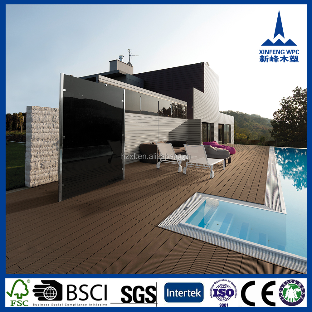 Durable Interlocking floor tile for swimming pool, waterproof swimming pool wpc deck