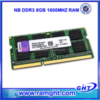 Cheap computer parts ETT chips nb ddr3 8gb 1600mhz ram