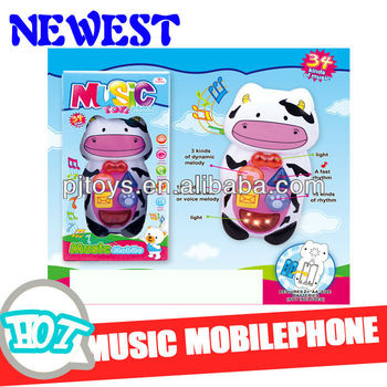 2014 New products! 3D Music B/O mobile phone with light.(COW)