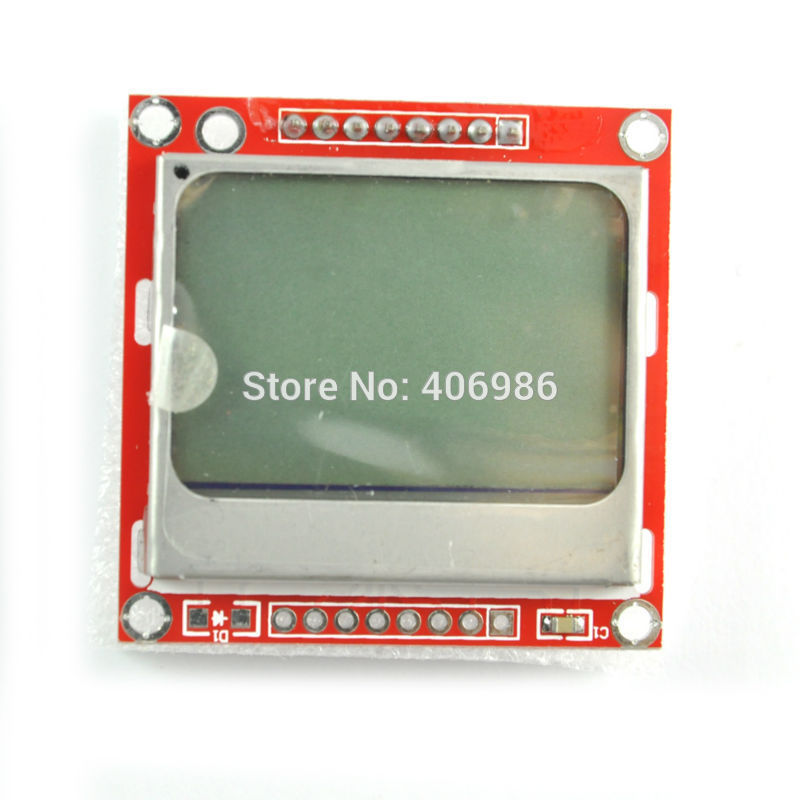 White Backlight 84*48 84x84 5110 LCD Display Module Adapter PCB for UNO for Nokia 5110