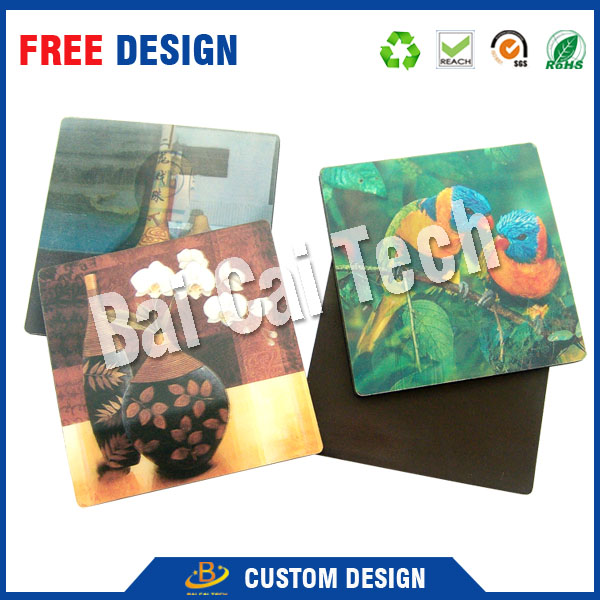 Hot selling high quality vivid picture custom priting 3D lenticular card