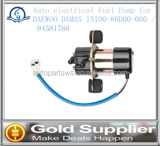 Brand new Auto electrical Fuel Pump for DAEWOO DAMAS 15100-80D00-000 / 94581768 /15100A80D00-000 / 94581765 with high quality .