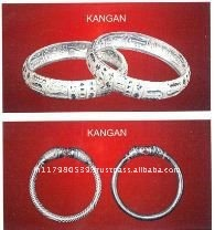 Silver bangles and bracelet