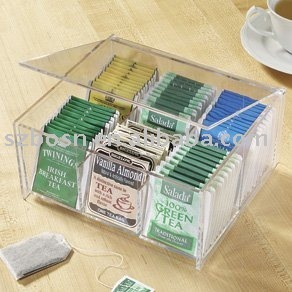 Acrylic Tea Bag Box, Plexiglass Tea Bag Holder, Perspex Tea Bag Dispenser