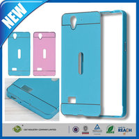 C&T Blue Aluminum Metal Bumper Frame Case Acrylic hard Back Plate Case Cover For Oppo N1 R819