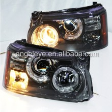 For Land Rover For Range Rover Sport LED Angel Eyes Head Lamps Lights With HID 2010-2012 year
