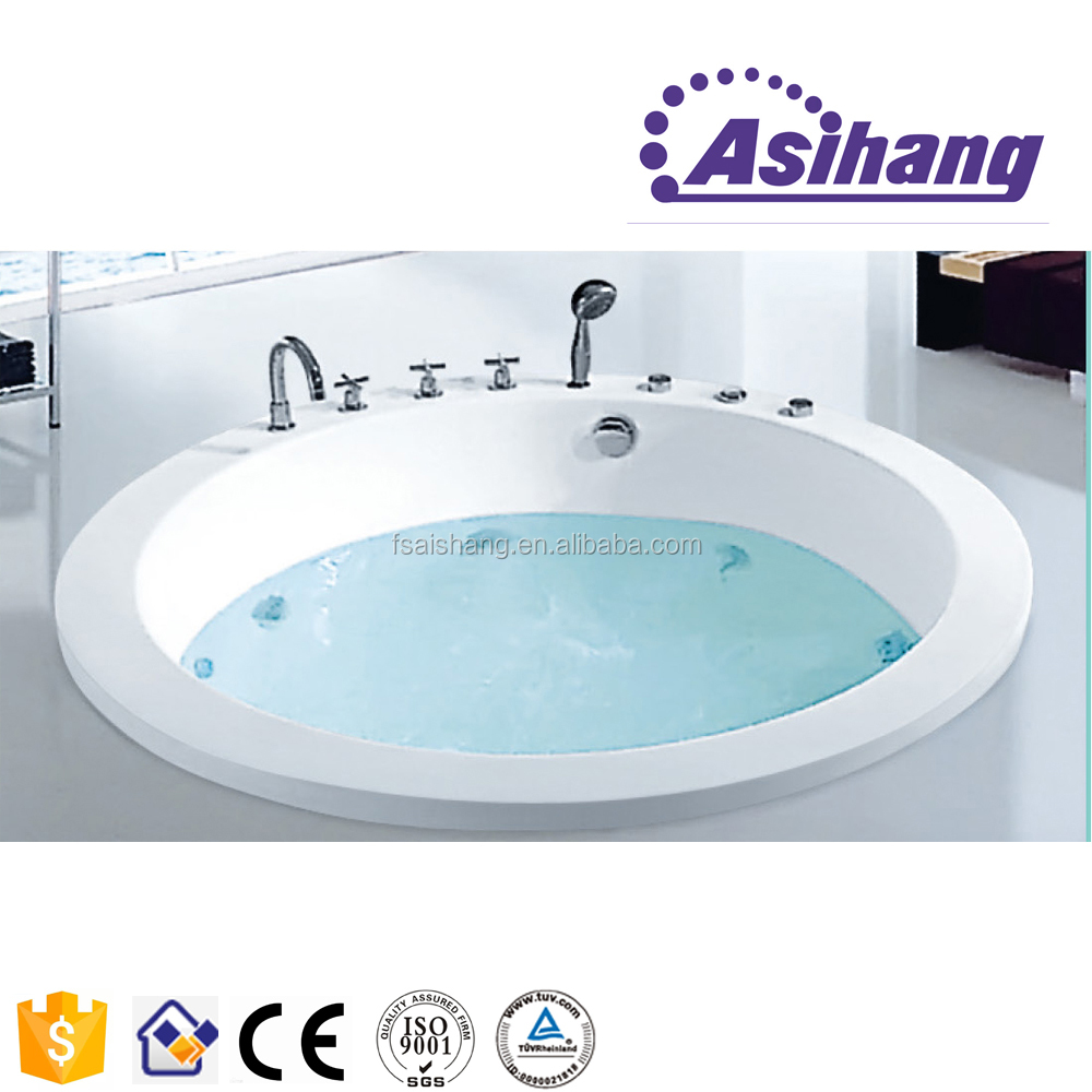 good price white acrylic round hot tub for dubai