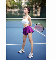 Women's Athletic Gym Workout Fitness Loose Training Tennis Shorts