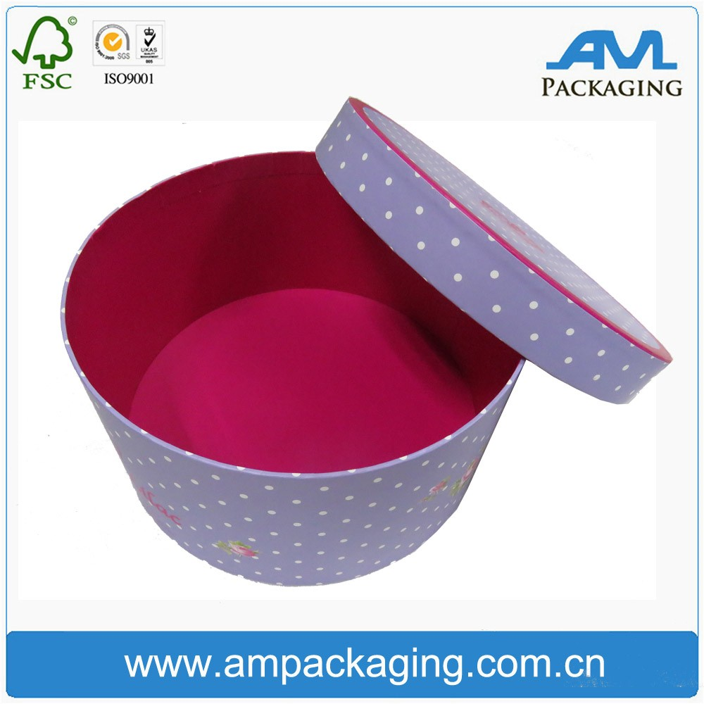 round printing colorful flower gift box packaging for preserve rose wholesale