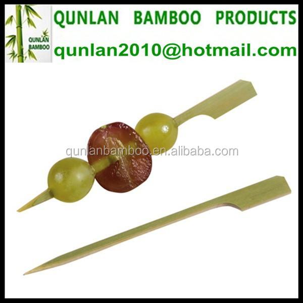 Flat Single Pointed Teppo Gushi Gun Shaped Bamboo Skewer
