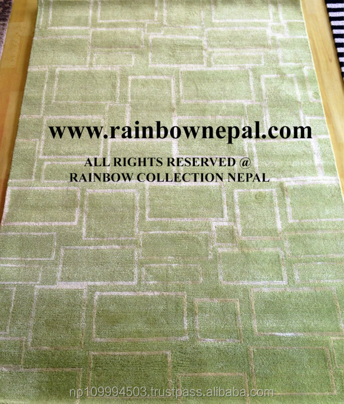 Nepal Hand Knotted Allo, Silk, Wool Carpet Rug 140x200cm
