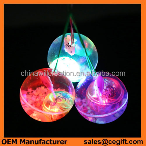 Funny cool Children's toys Led crystal Elastic ball Flash Bouncing ball with flashing light