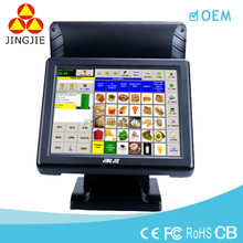 JJ-8000B Window 15 inch restaurant touch screen business cash register/pos system /pos