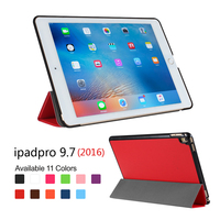 New arrival smart cover Case For IPad Pro 9.7(2016) Tablet Case for iPad Pro with PC backside for iPad Pro case