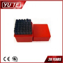 China manufacturer 7MM 36PCS number and letter hardware tool&Steel Stamping Number Punches