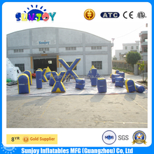 Cheap inflatable paintball bunker for shooting, china manufacturers inflatable bunkers paintball for rental