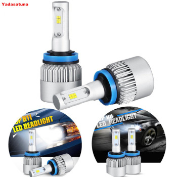 Factory price 12V COB chips S2 LED headlight 8000LM car H3 H4 H11 led headlight bulbs