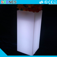 Christmas waterproof plastic color changing led cube magic lighting flower blossom pot