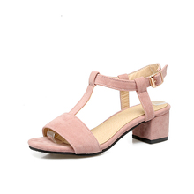 chinese brands new model women sandals with chunky heels