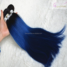 Angelbella Two Tone Blue Hair Weave Color 6A Grade Stock Blue Black Hair Weave