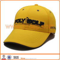 2016 Customized Structured Fashion 6 panels 100% Polyester 3D Embroidery Sports Caps Adjustable