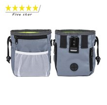 Five Star Amazon Hot Selling Portable Improved Zippered Pocket Oxford Waterproof Training Dog Treat Bag