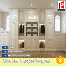 Ready Assembled White PVC Wardrobe from China