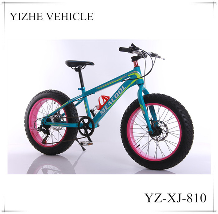 20 inch China manufacture steel fat tyre bike for adult in light blue